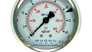 MANÔMETRO COM GLICERINA 63MM 0~15KGF- ASTA 1-4